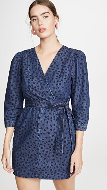 La Vie Rebecca Taylor Платье из денима Faune с длинными рукавами