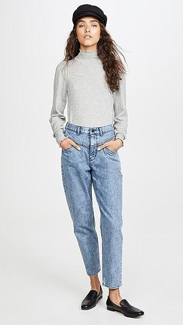 La Vie Rebecca Taylor Cozy Cotton Turtleneck Pullover