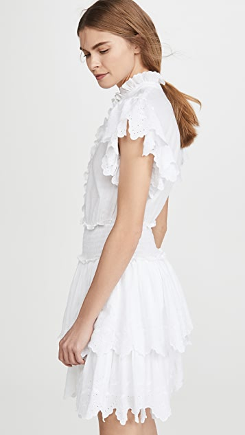 La Vie Rebecca Taylor Sleeveless Embroidered Smock Dress