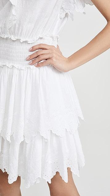 La Vie Rebecca Taylor 刺绣抽褶无袖连衣裙