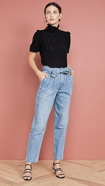 La Vie Rebecca Taylor 腰部系带牛仔裤
