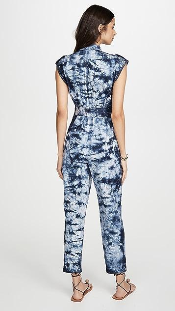 La Vie Rebecca Taylor Sleeveless Tie Dye Jumpsuit