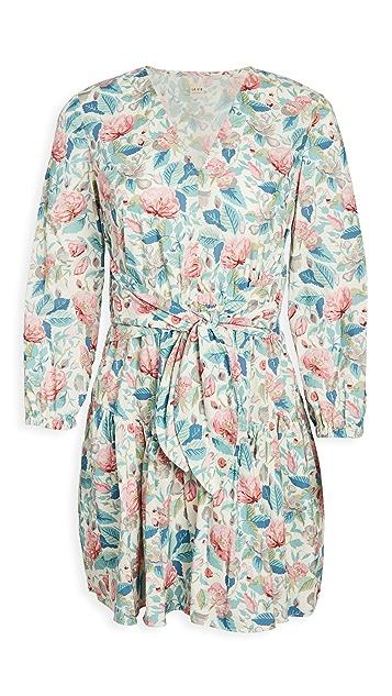 La Vie Rebecca Taylor Long Sleeve Paint Garden Dress