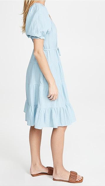 La Vie Rebecca Taylor 短袖双层薄纱连衣裙