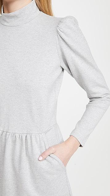 La Vie Rebecca Taylor Long Sleeve Heather Jersey Dress
