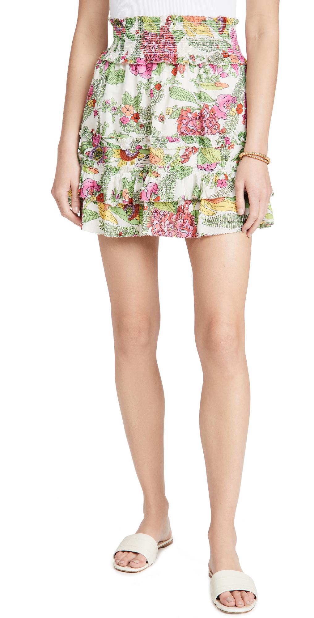 Ruffle Tiered Miniskirt