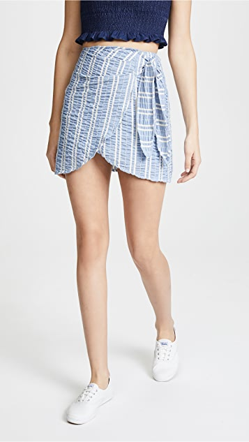 Lost + Wander Waves Wrap Skirt