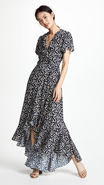 Lost + Wander Araceli Wrap Maxi Dress