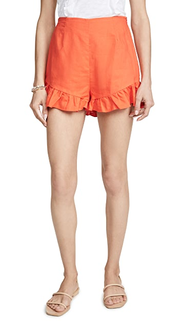 Lost + Wander Papaya Shorts