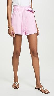 Guava Tie Shorts