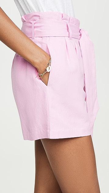 Lost + Wander Guava Tie Shorts