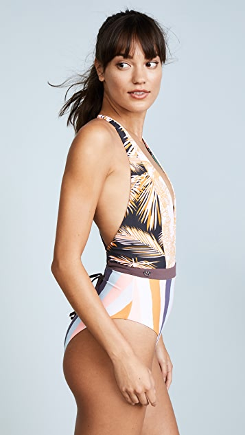 Maaji Rainbow Jungle Plunge Neck One Piece