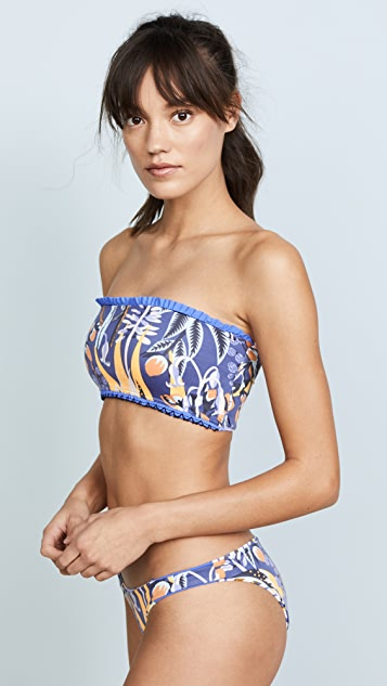 Maaji Wheels & Frills Reversible Bandeau Top