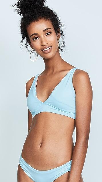 Maaji Crystal Blue Allure Reversible Bikini Top