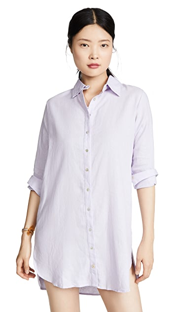 Maaji Pink Floret Button Down Cover Up