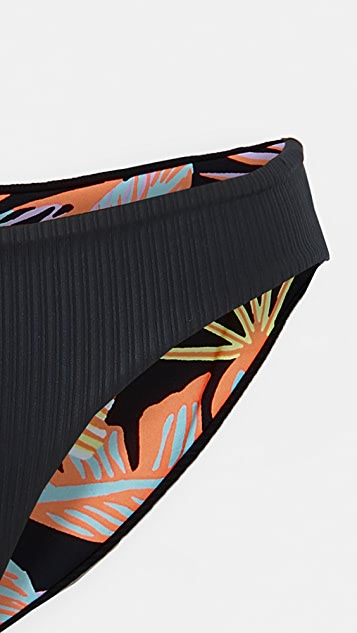 Maaji 黑色缟玛瑙高雅双面穿比基尼泳裤