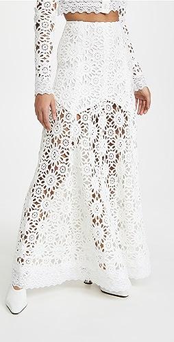 macgraw - 象牙白 Noble 半身裙