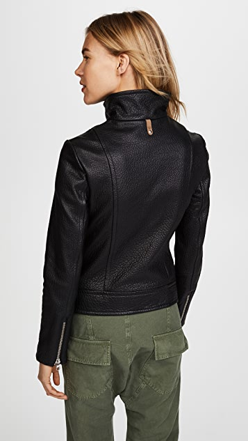 Mackage Lisa Pebbled Leather Jacket