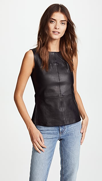 Mackage Sierra Leather Top - Black