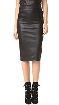 Lucille Leather Skirt