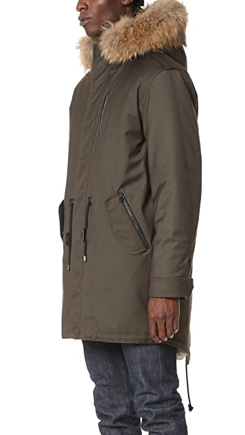 Mackage Moritz Fur Lined Fishtail Parka