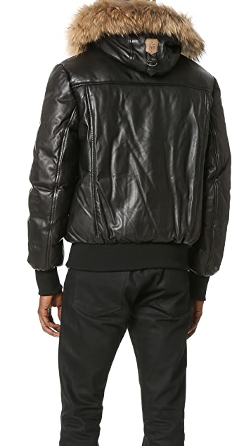 Mackage Glen Leather Bomber