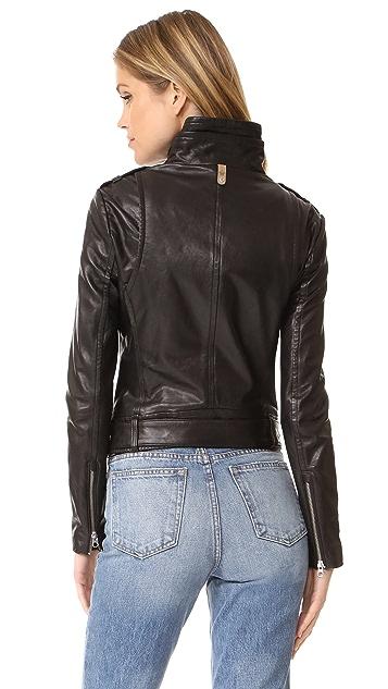 Mackage Hania Washed Leather Jacket