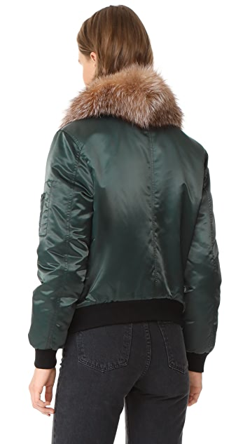 Mackage Rella Satin Bomber Jacket