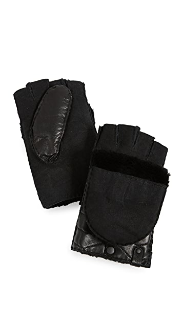 Mackage Chukka Leather Pop-Top Mittens