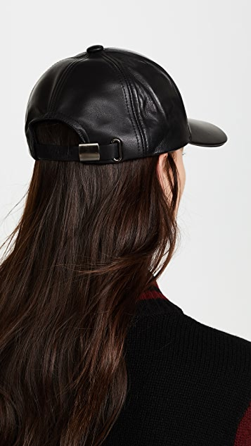 Mackage Casper Leather Baseball Cap