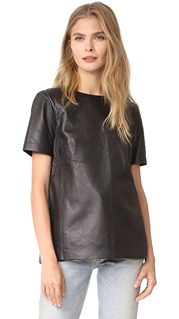 Mackage Tatiana Leather Top
