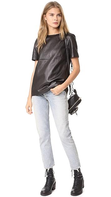 Mackage Tatiana Leather Top