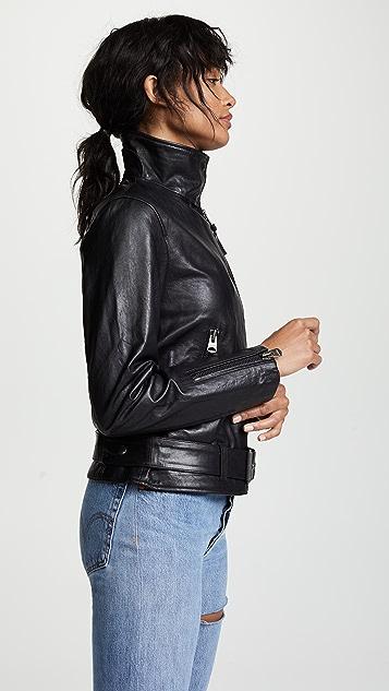 Mackage Emily Leather Moto Jacket