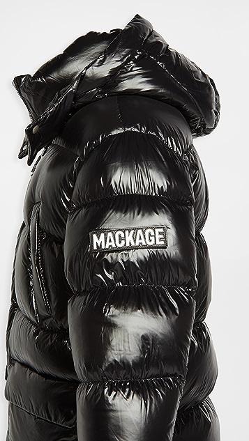 Mackage Kendrick Hooded Long Down Puffer Jacket