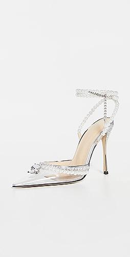 MACH & MACH - Diamond of Elizabeth Transparent High Heels