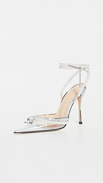 MACH & MACH Diamond of Elizabeth Transparent High Heels