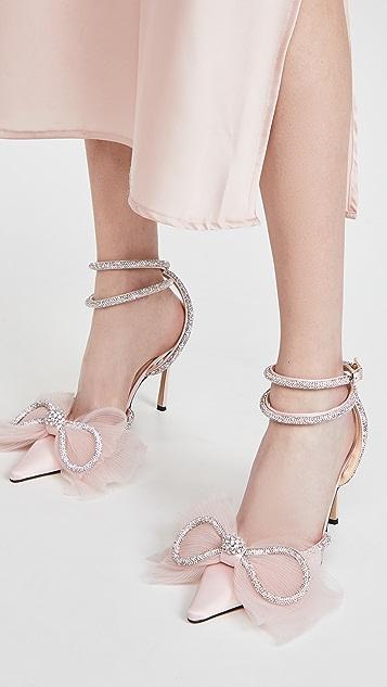 MACH & MACH 双水晶蝴蝶结高跟鞋