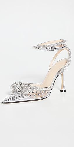 MACH & MACH - Double Bow Crystallized  High Heels
