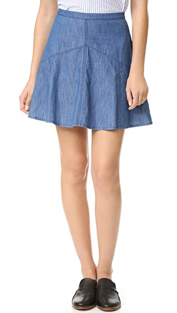 Madewell Denim Piazza Skirt