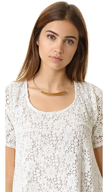 Madewell Chevron Cutout Band Necklace