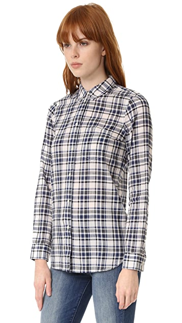 Madewell Slim Boyshirt in Plaid