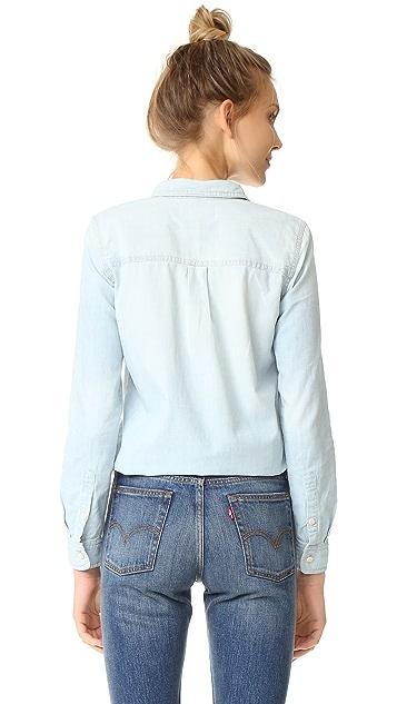 Madewell Slim Ex-Boyfriend Shirt in Chambray