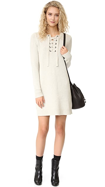 Madewell Sweater Lace Up Dress