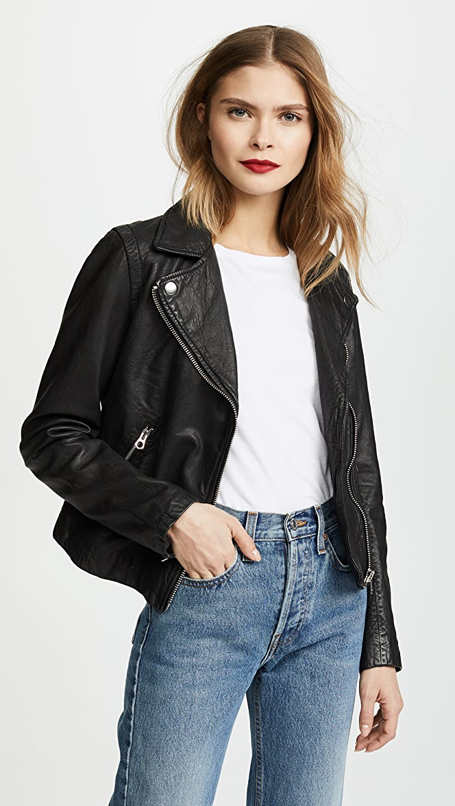 discount shop 100% high quality discount shop Madewell Washed Leather Motorcycle Jacket | SHOPBOP