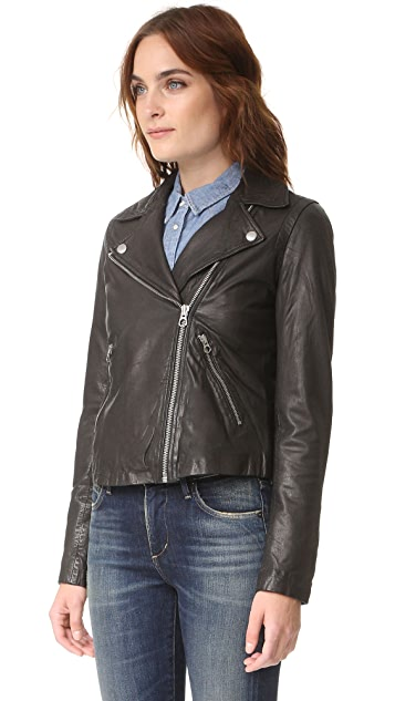 Madewell Washed Leather Motorcycle Jacket