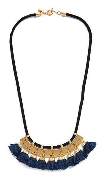 Madewell Etchmix Tassel Statement Necklace