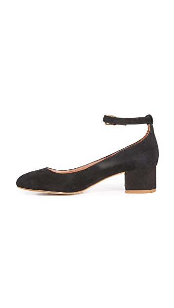 Madewell Victoria Block Heel with Ankle Strap