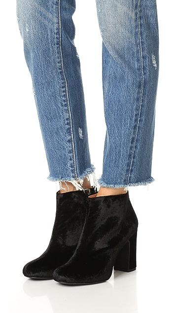 Madewell Lana Velvet Booties
