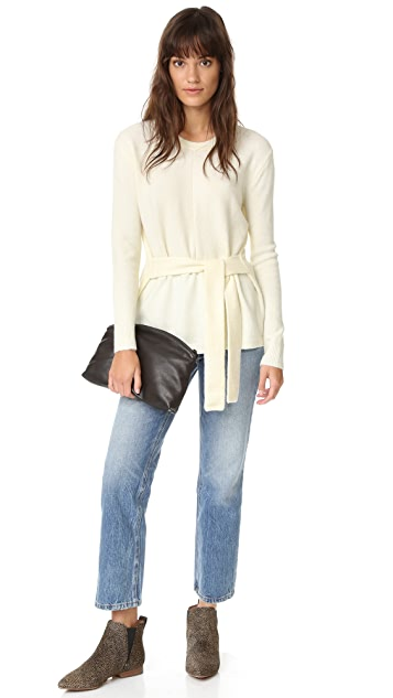 Madewell Tie Front Wrap Sweater