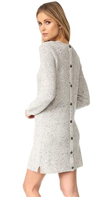 Madewell Donegal Button Back Sweater Dress